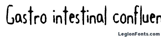 шрифт Gastro intestinal confluent, бесплатный шрифт Gastro intestinal confluent, предварительный просмотр шрифта Gastro intestinal confluent