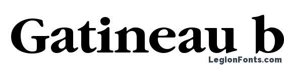 Gatineau bold Font