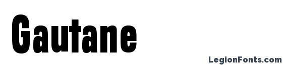 шрифт Gautane, бесплатный шрифт Gautane, предварительный просмотр шрифта Gautane
