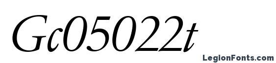 Gc05022t Font