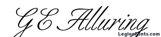 GE Alluring Font, Wedding Fonts