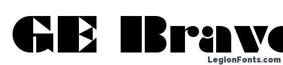 шрифт GE Bravo, бесплатный шрифт GE Bravo, предварительный просмотр шрифта GE Bravo