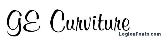 Шрифт GE Curviture
