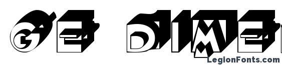 GE Dimensions Font