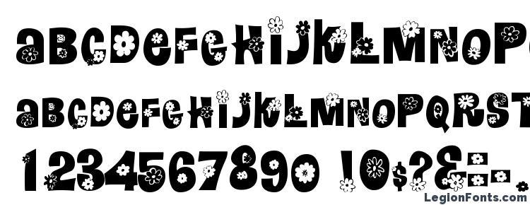 glyphs GE Flower Child font, сharacters GE Flower Child font, symbols GE Flower Child font, character map GE Flower Child font, preview GE Flower Child font, abc GE Flower Child font, GE Flower Child font
