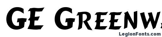 Шрифт GE Greenway Caps