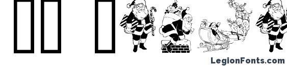 GE Santa Claus Font