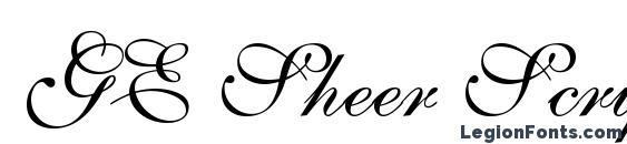 GE Sheer Script Font
