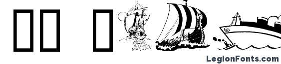 GE Ships Ahoy Font