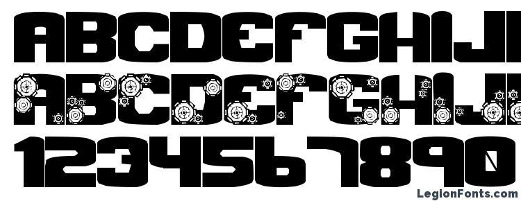 glyphs Gear Crank font, сharacters Gear Crank font, symbols Gear Crank font, character map Gear Crank font, preview Gear Crank font, abc Gear Crank font, Gear Crank font