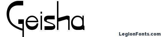 Шрифт Geisha