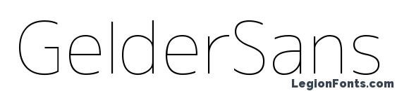 Шрифт GelderSans Thin