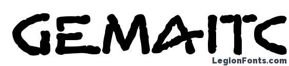GemaITC TT Font, Bold Fonts