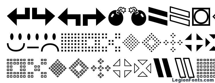 глифы шрифта GemBats 2, символы шрифта GemBats 2, символьная карта шрифта GemBats 2, предварительный просмотр шрифта GemBats 2, алфавит шрифта GemBats 2, шрифт GemBats 2