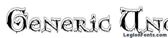 Generic Uncials Snowcapped font, free Generic Uncials Snowcapped font, preview Generic Uncials Snowcapped font