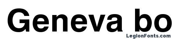 Шрифт Geneva bold