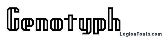 Шрифт Genotyph