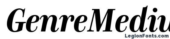 шрифт GenreMedium BoldItalic, бесплатный шрифт GenreMedium BoldItalic, предварительный просмотр шрифта GenreMedium BoldItalic