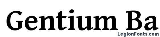 Gentium Basic Bold Font