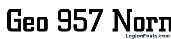 Geo 957 Normal Font