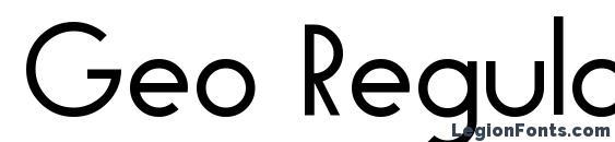 шрифт Geo Regular, бесплатный шрифт Geo Regular, предварительный просмотр шрифта Geo Regular