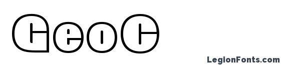 Шрифт GeoC