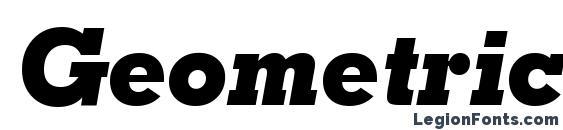Шрифт Geometric Slabserif 703 Extra Bold Italic BT