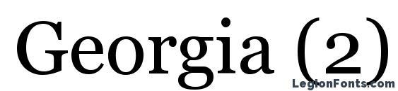 Шрифт Georgia (2)