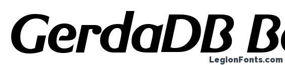 GerdaDB BoldItalic Font