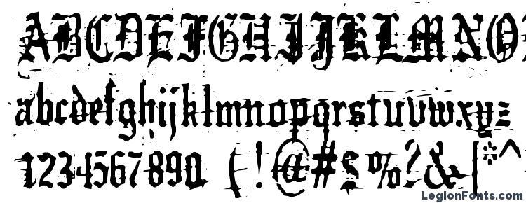 glyphs German underground font, сharacters German underground font, symbols German underground font, character map German underground font, preview German underground font, abc German underground font, German underground font