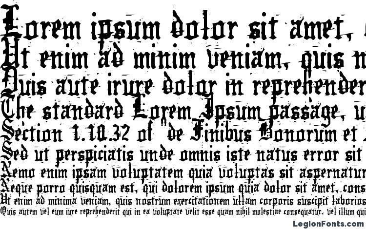 specimens German underground font, sample German underground font, an example of writing German underground font, review German underground font, preview German underground font, German underground font