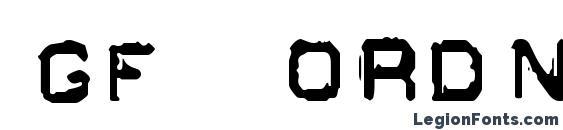 Шрифт GF Ordner Inverted