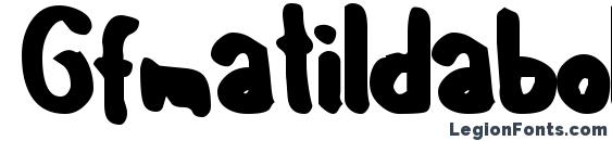 Gfmatildabold font, free Gfmatildabold font, preview Gfmatildabold font