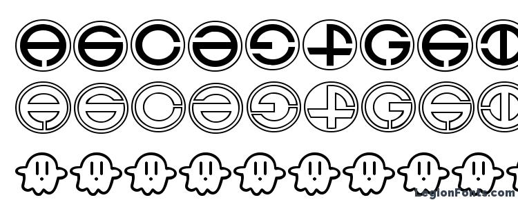 glyphs Ghost font, сharacters Ghost font, symbols Ghost font, character map Ghost font, preview Ghost font, abc Ghost font, Ghost font