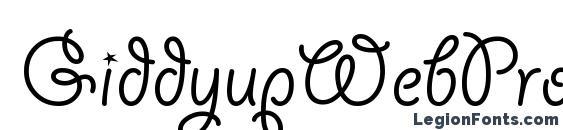 шрифт GiddyupWebPro, бесплатный шрифт GiddyupWebPro, предварительный просмотр шрифта GiddyupWebPro