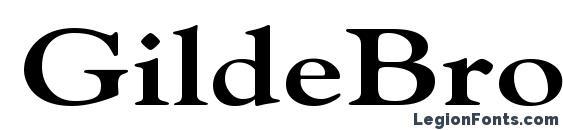 Шрифт GildeBroad Bold