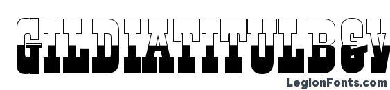 шрифт Gildiatitulb&w regular, бесплатный шрифт Gildiatitulb&w regular, предварительный просмотр шрифта Gildiatitulb&w regular