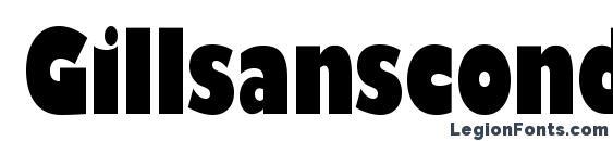 Gillsanscondblackc Font