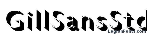 GillSansStd LightShadowed Font