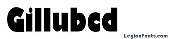 Gillubcd Font
