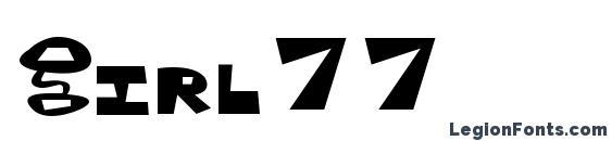 Girl77 font, free Girl77 font, preview Girl77 font