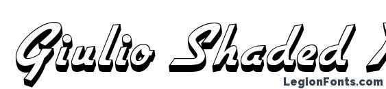 Giulio Shaded Regular Font