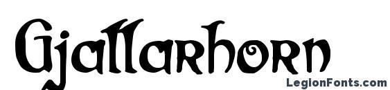 Шрифт Gjallarhorn