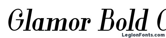 Шрифт Glamor Bold Condensed Italic