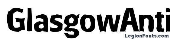 GlasgowAntique Bold Font