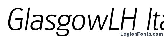 GlasgowLH Italic Font