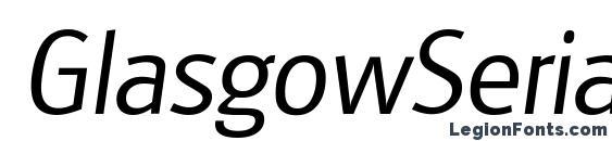 GlasgowSerial Light Italic Font