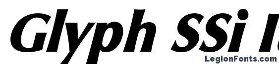 Glyph SSi Italic font, free Glyph SSi Italic font, preview Glyph SSi Italic font