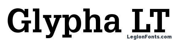 Шрифт Glypha LT 65 Bold