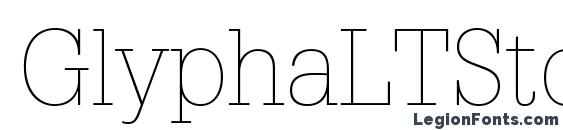 GlyphaLTStd Thin Font